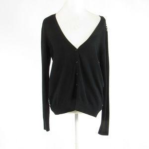 Isaac Mizrahi black cotton blouse L